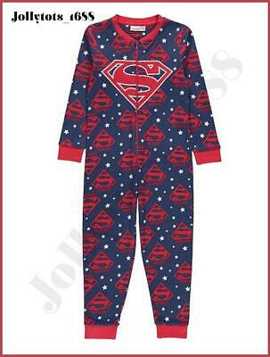 Girls DC Comics Supergirl Outfit Character Clothing Superhero Onesey Pyjamas