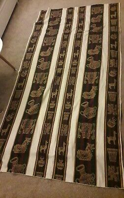 Large peruvian ethnic Tablecloth / Blanket / Throw - brown neutral