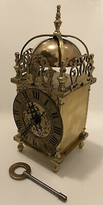 Antique French Lantern / Carriage Clock Striking On Bell Rare Timepiece