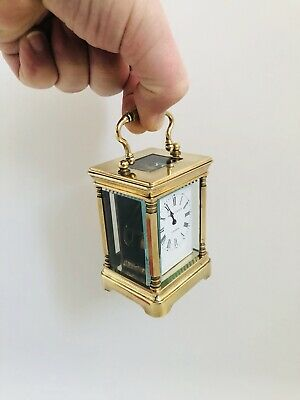 Antique Miniature French Carriage Clock Elliot & Son London