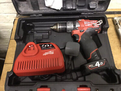 Milwaukee Fuel Brushless Drill 2 Speed 12v M12 With Battery 4.0ah  M12cpd