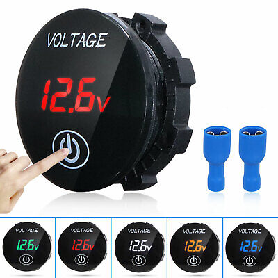DC 12V-24V LED Panel Digital Voltage Volt Meter Display Voltmeter Motorcycle Car