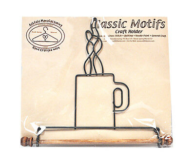 Classic Motifs Coffee Cup 7.5 Inch Fabric Holder With Dowel