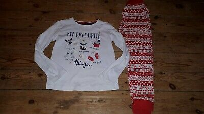 Girls MATALAN christmas Festive Winter Pyjamas Pjs Sleepwear 9 8-9