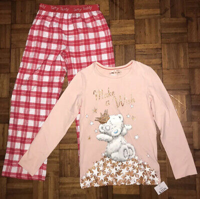 Tatty Teddy Me To You M&S Kids Girls Pjs Top/ Trousers Size 9-10yrs New