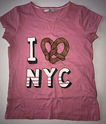 Marks & Spencer Girls NYC Tshirt Pink Size 8-9yrs New Without Tags