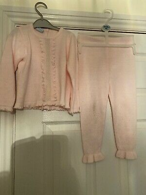 SARAH LOUISE BABY GIRL'S PINK KNIT Top And Trousers Age 3