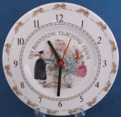 Royal Doulton Bunnykins Teaching Old School Room Clock Nursery England