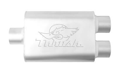 "Summit Racing Muffler Welded 2 1//4/"" Inlet//2 1//4/"" Outlet Steel Aluminized Each"