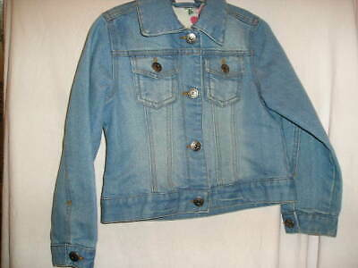 Next Girls Denim Jacket Age 5-6 Years In Stone Washed Pale Blue  Trendy