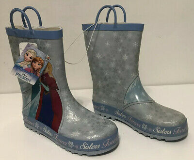 Disney Frozen Anna Elsa Girls Wellington Boots Size 2/35 New With Tag Mothercare