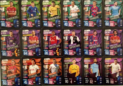 Match Attax 19/20 Full Subset Card Sets 2019/20 UEFA Champions Mega Tin Sub Sets