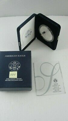 2004 American Eagle 1 ounce Fine Silver Proof One Dollar Coin - NO RESERVE