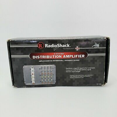 "RadioShack technology plus 1-in/4-out Distribution Amplifier 15-130 ""NEW"""