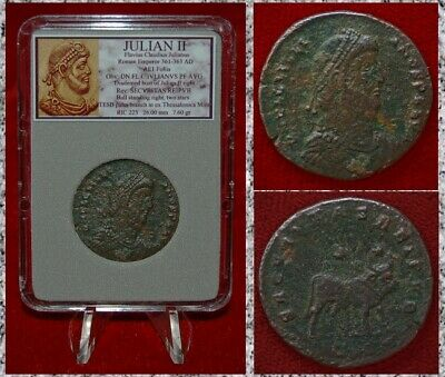 Ancient Roman Empire Coin JULIAN II Large Bronze Coin With Bull on Reverse