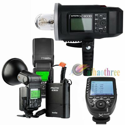 Godox AD600B + AD360II-C + TT685C Flash Light + Xpro-C Trigger TTL HSS For Canon