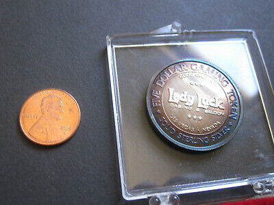 1976 Las Vegas Lady Luck Casino SILVER Cameo PROOF coin gaming token US 200th