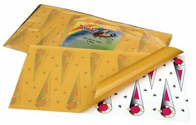 Bande attrape-mouches collante Sticky de 580 x 320 mm en lot de 6