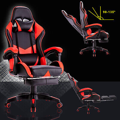 Executive Gaming Office Chair Racer Recliner Computer Chairs Racing Seat Leather