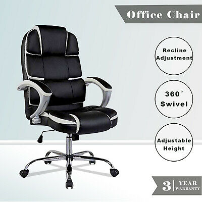 Executive Office Chair High Back PU Leather Recliner Computer Gaming Chairs Seat