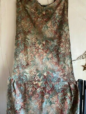 Antique Fabric Vintage Indiennes Blue Red Cotton Twill Interiors Textile Chateau