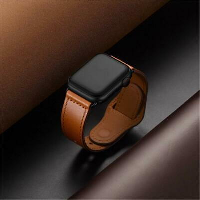 38/42 40/44mm Genuine Leather Apple Watch Band Strap for iWatch Series 5 4 3 2 1