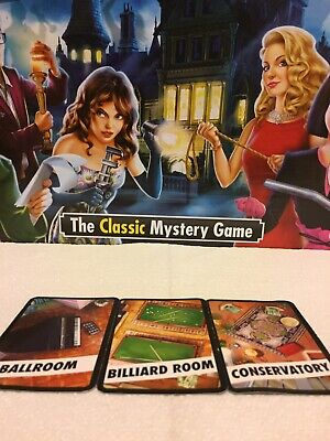 Cluedo Spare Cards Weapons Suspect Card Miss Scarlet Rope Ballroom etc.