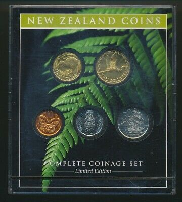 New Zealand: 2005/06 Smaller Coinage Set Limited Edition, Reserve Bank/ PO Issue