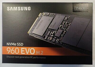 Samsung 960 EVO 250GB NVMe M.2 (MZV6E250BW) Solid State Drive