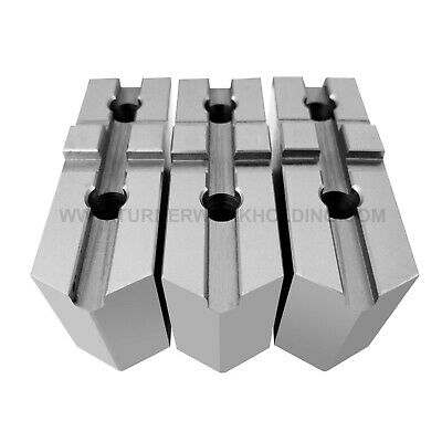 """TG-12252F STEEL SOFT JAWS FOR TONGUE /& GROOVE 12/"""" CHUCK WITH A  2.5/"""" HT 3 PC SET"""