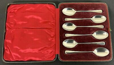 6 x Solid Sterling Silver Teaspoons Hallmarked Sheffield William Gallimore & Son
