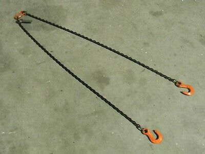 """CM Herc-Alloy Chain Sling 5 Ft. x 7/32"""" 2-Branches 4700 lb. Load Capacity"""