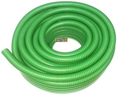 """Suction hose 1 1/2"""" Delivery Pump Drainage 7 Bar 1 Metre 38mm Green Medium NEW"""