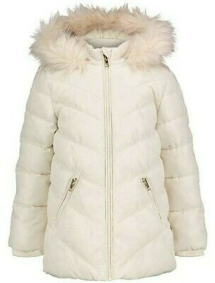 George Cream Hooded Shower Resistant Padded Coat - Size 5/6 Years , BNWT