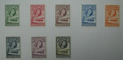 Bechuanaland: QE 1954  mint values to 1/-.  Fresh colours.