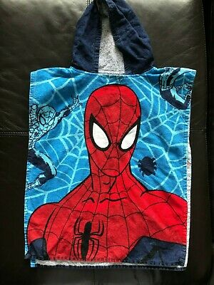 Marvel Spiderman Beach Holiday Hooded Towel Cover Age 2