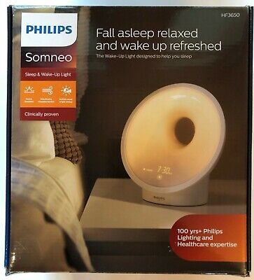 New in Box Philips Somneo Sleep & Wake-Up Light HF3650 RelaxBreathe Therapy Lamp