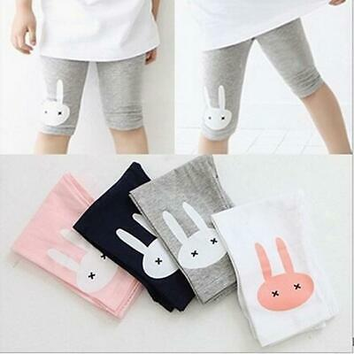Baby Girls Rabbit Shorts Stretchy Cropped Trousers Leggings Cute Pants ComfortHS