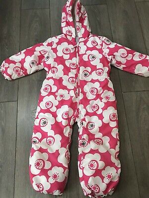 Girls Next Floral All In One Snowsuit Age 4-5 Years