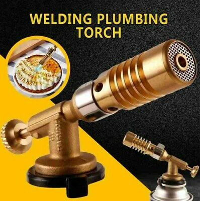 Portable Gas Torch Flame Gun Blowtorch Butane Heating Copper Welding BBQ Spray