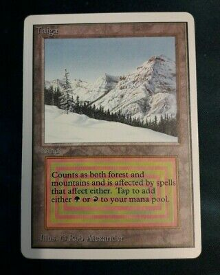 1 x Taiga - Unlimited Duel Land - Magic the Gathering MTG - Near Mint N/M