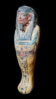 Shabti Egyptian Ancient Faience Rare Ushabti Statue Egypt 940 Bc Stone Antiques