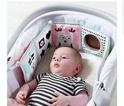 Taf Toys 3 in 1 Soft Baby Development Book for carrycot or moses basket