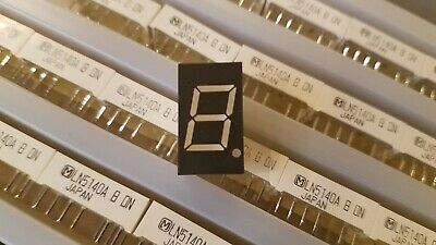 248pcs, LN5140A Panasonic LED 1 Digit Orange Common Anode