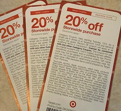 Target 20% Off Entire Purchase Coupon Valid From 12/3-12/14/19 Coupon Online