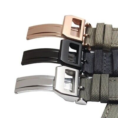 Breathable Watch Strap For IWC Woven Nylon Canvas Durable Sport 20 22mm Bands