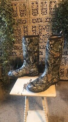 Mens Muck Woody Blaze Cool SnakeRain/Hunting Boots SZ 15 US Mossy Oak Country