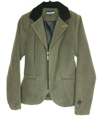 Arista Equestrian Womens Riding Jacket Olive Green Great Condition Size M