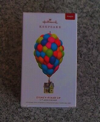 Hallmark 2019 Disney Pixar Up 10th Anniversary Magic Keepsake Ornament