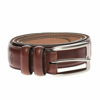 Dockers Mens Leather Feather Edge 1 1/4 Inch Dress Belt Tan